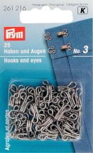 P261216 HOOKS AND EYES STAINL. STEEL 3 SILVER COL 25 ST HOOKS AND EYES STAINL. STEEL 3 SILVER COL 25 ST 261216_VS.jpg