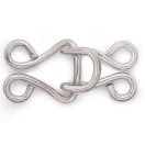 P261548 CORSET HOOKS AND EYES BRASS 13 SILVER COL 1000 ST CORSET HOOKS AND EYES BRASS 13 SILVER COL 1000 ST P261548