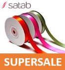 ST042215 SATIN RIBBON DOUBLE SIDED 100%  POLYESTER 15MM The indicated price is the SUPERSALE price !