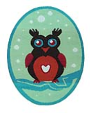 WL60009 MOTIF SMALL OWL - IRON ON 45MM x 60MM Individually packed b55b3360ea958e6b657544be11c4c8f9.JPG