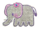 WL60037-690 MOTIF SMALL ELEPHANT - IRON ON  53MM X 40MM Individually packed a4ccf64c8f0016d6089232d864307c51.JPG